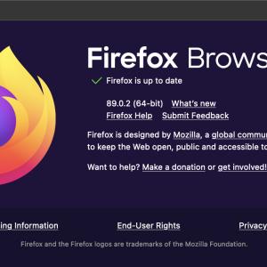 Firefox 89.0.2がリリース。