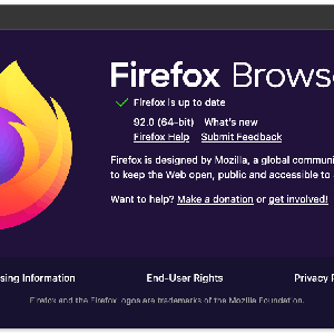 Firefox Browser 92.0 がリリース。
