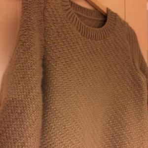 [コピー]【完成】ディアゴナルスティッチのセーター♪