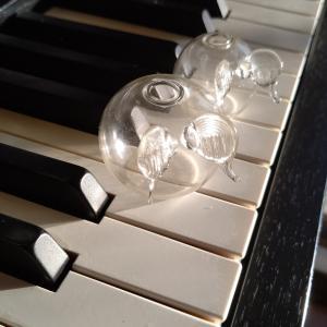 ピアノで、腹筋、鍛えマショウ( ・`д・´)!!!