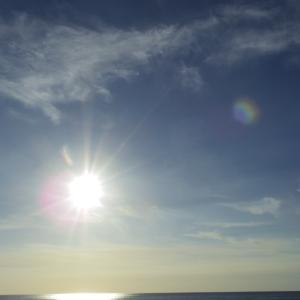 2021、9、21(火)今日の空写真(陽が差し込む写真撮るたびオーブ写り込む)二ッぃ!