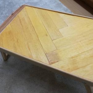 IKEA「ジューラ ベッドトレイ」を自分好みにDIY!≪IKEA家具リメイク×ヘリンボーン≫