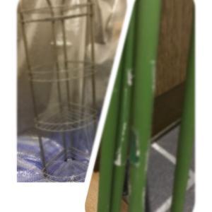 【ジモティー】ステンレスラックと園芸支柱