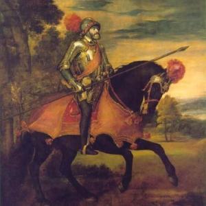カール5世騎馬像 ハブスブルグ家の下あご