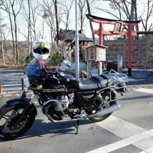 オートバイ神社へ初詣