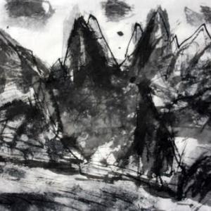 平和の礎/白い花の咲く頃(53)[詩人・伊藤冬留のエッセイと画人・高見乾司の風景素描によるコラボ