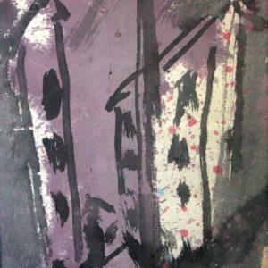 私の昭和史(二)―新制中学校/白い花の咲く頃(66)[詩人・伊藤冬留のエッセイと画人・高見乾司の風景素描によるコラボ]