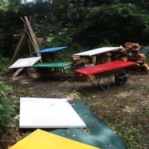 本日 南阿蘇へ/南阿蘇復興・球磨川流域水害復旧支援の一環「神楽を伝える村へ―高見乾司墨彩展」[森へ行く道<55>]