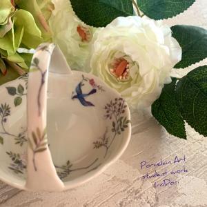 青い鳥が舞う、幸せのアクセサリートレイ&元気いっぱい夏ピアス