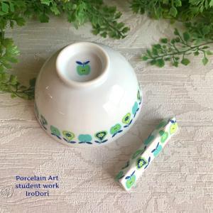 どこか懐かしい、アンティーク調のお茶碗&箸置き&ネックレス