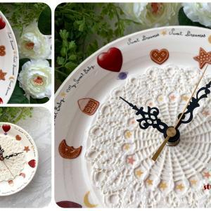 世界に1つのオリジナル、陶芸とポーセラーツの時計コラボ作品