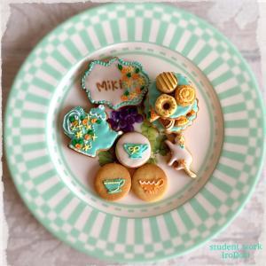 ティファニー色が可愛い、アフタヌーンティセットアイシングクッキー