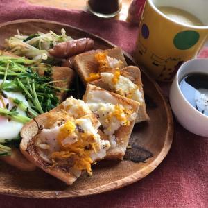 休日は小洒落た朝食
