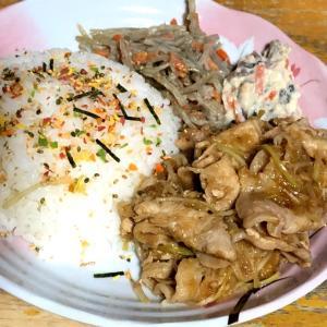 夕食・豚の生姜焼き