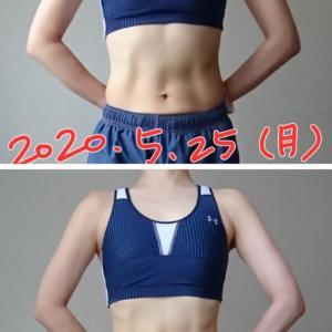 体型比較画像。15日間必死に腹筋をやってみた。