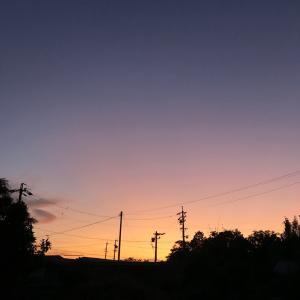 夕焼け空が真っ赤っか