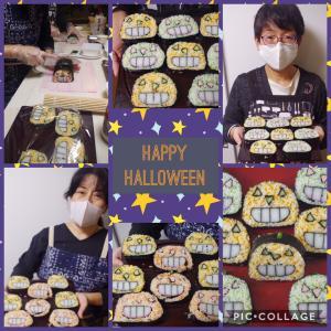 マンスリー飾り巻き寿司☆三色かぼちゃのオバケ飾り巻き寿司