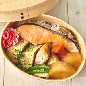 息子にだけエコひいき⁈♡週始まりはシンプルな鮭弁当