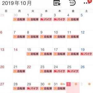 2019年10月の走行記録