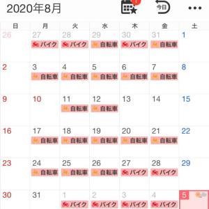 2020年8月の走行記録