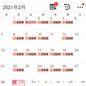 2021年2月の走行記録