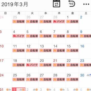 2019年3月の走行記録