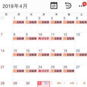 2019年4月の走行記録