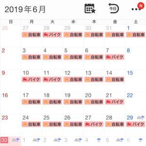 2019年6月の走行記録