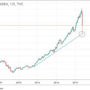 ◆一直線に走り続けたニュージーランド株価。 でも安心。