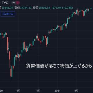 ◆高値更新が続く緩和バブル2021。 ダウも堅調なまま・・・