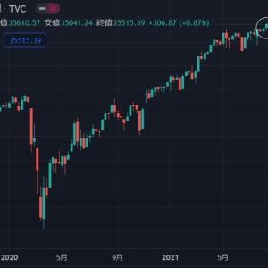 ◆緩和バブル2021アメリカ株価の上昇止まらず。 暴落などまだまだあり得ないのでは? ダウ・・・ SP500・・・