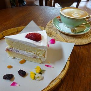 日本風イチゴのショートケーキ @Maroon cafe