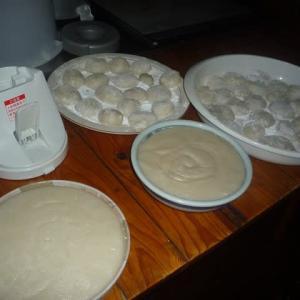 7人目の孫「ゆかちゃん」の誕生祝餅踏み準備