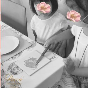 家族でポーセラーツレッスン♡~七夕☆日本の和の趣を感じるお菓子