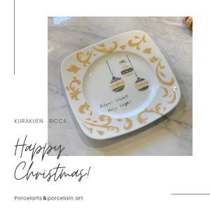 クリスマスを感じるポーセラーツ作品♡生徒様作品 ~神戸市森林植物園♪~
