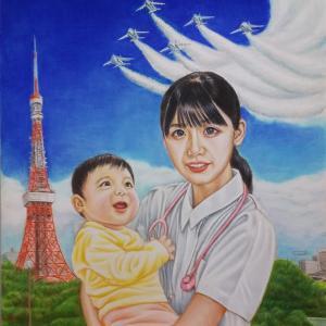 色鉛筆画 『コロナの終息を願って』 完成!