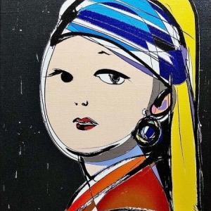 人気作家 岡本真実さん 『真珠の耳飾りの少女』(オマージュ)