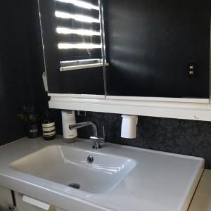 洗面所収納三面鏡②