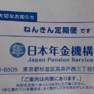ねんきん定期便(2020年)金額公表