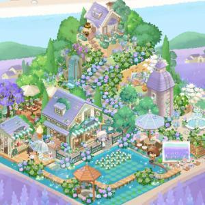 紫色のお庭ができたよー!