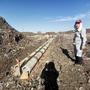 エチオピアのゴミ処理場を見学