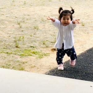 1歳★園庭からよちよち