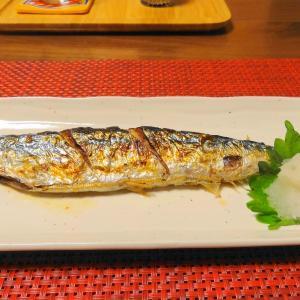秋刀魚の塩焼き ‼ 遠赤効果でまるで炭火焼き♪
