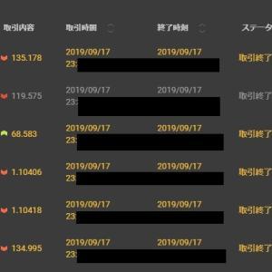 【FX&BO】9月17日の結果・・・頑張った(*_*;