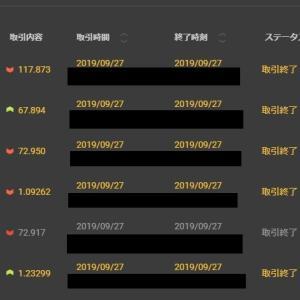 【FX&BO】9月27日の結果
