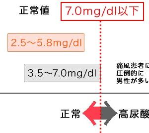 尿酸値の高い方にも糖質制限はオススメです。