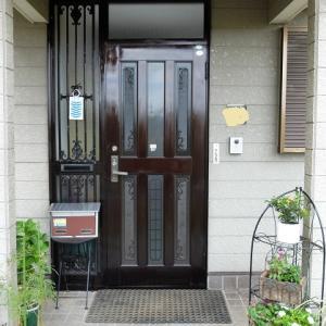 色あせた玄関ドアにシリコンオイルを塗ってみました