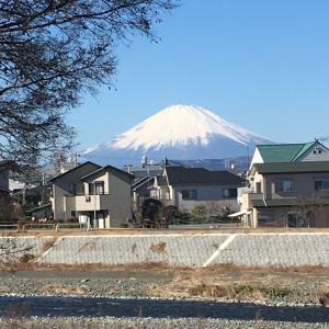 1月14日富士山   くっきり見えました!