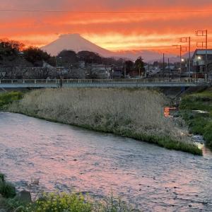 3月25日 夕焼け富士!