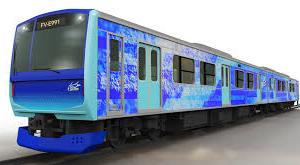 水素で走る次世代の鉄道車両FV-E991系をJR東日本・日立・トヨタが共同で開発